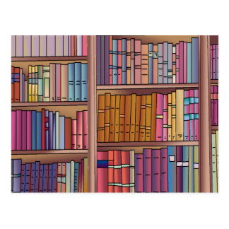 Buch-Wurm-Postkarte Postkarte