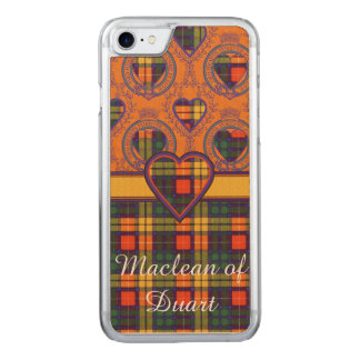 Buchanan-Clan karierter schottischer Tartan Carved iPhone 8/7 Hülle