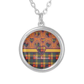 Buchanan-Clan karierter schottischer Tartan Versilberte Kette