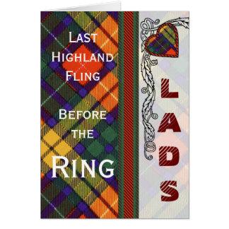Buchanan-Familienclan karierter schottischer Kilt Karte
