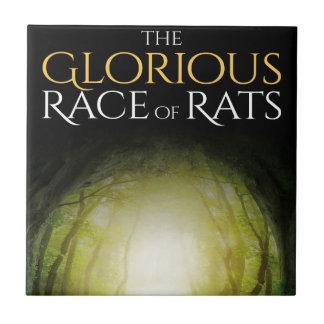 """Bucheinband """"des prachtvollen Rennens der Ratten """" Fliese"""
