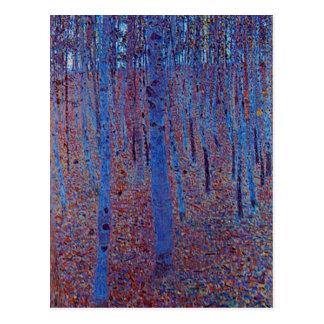 Buchen-Wald durch Gustav Klimt Postkarte