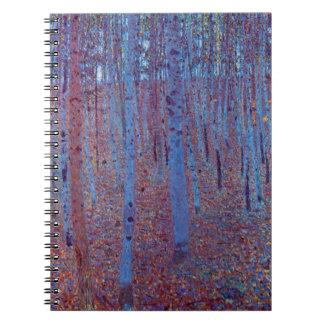 Buchen-Wald durch Gustav Klimt, Vintage Kunst Notizblock