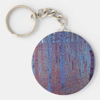 Buchen-Wald durch Gustav Klimt, Vintage Kunst Schlüsselanhänger