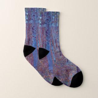 Buchen-Wald durch Gustav Klimt, Vintage Kunst Socken
