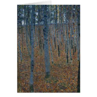 Buchen-Waldung I durch Gustav Klimt Karte