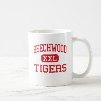 Buchenholz - Tiger - hoch - Fort Mitchell Kentucky Kaffeetasse