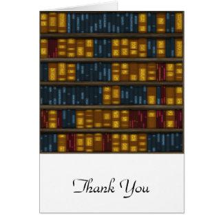 Bücher, Bücher, Bücher - Bücherregal-Muster Karte