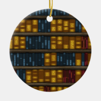 Bücher, Bücher, Bücher - Bücherregal-Muster Keramik Ornament