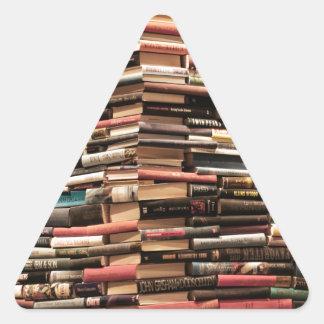 Bücher Dreieckiger Aufkleber
