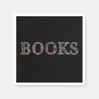Bücher: ein Entwurf für Buchliebhaber Papierserviette