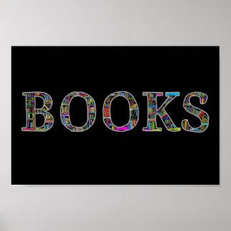 Bücher: ein Entwurf für Buchliebhaber Poster