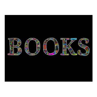 Bücher: ein Entwurf für Buchliebhaber Postkarte