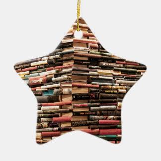 Bücher Keramik Stern-Ornament