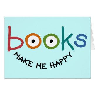 Bücher machen mich glücklich karte