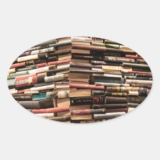 Bücher Ovaler Aufkleber