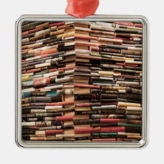 Bücher Quadratisches Silberfarbenes Ornament
