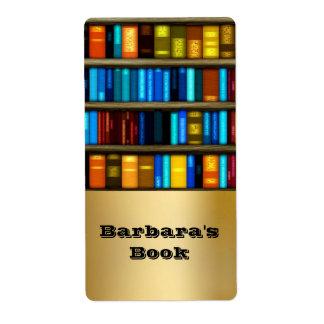 Bücher Regal-in den persönlichen Versandetikett