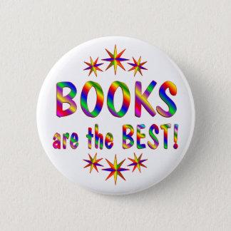 Bücher sind das Beste Runder Button 5,7 Cm