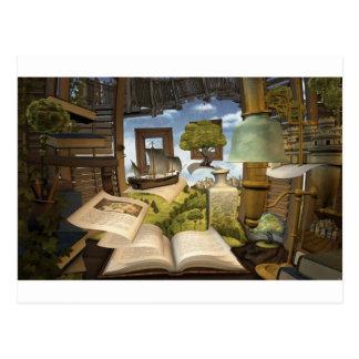 Bücher sind Wissen! Postkarte