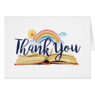 Bücher und Brunch danken Ihnen zu kardieren Karte