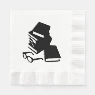 Bücher und Gläser Serviette