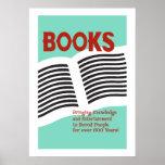 Bücher und Leseplakat