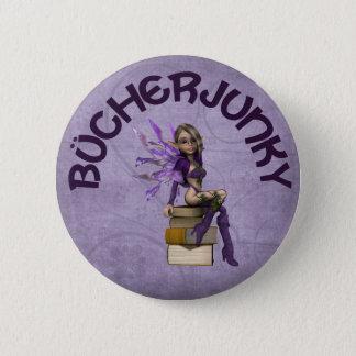 Bücherjunky Runder Button 5,7 Cm