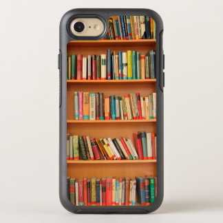 Bücherregal bucht Bibliotheks-Bücherwurm-Lesung OtterBox Symmetry iPhone 8/7 Hülle