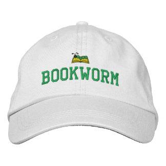 Bücherwurm gestickter Hut