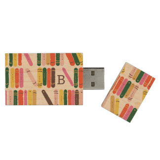 Bücherwurm Holz USB Stick
