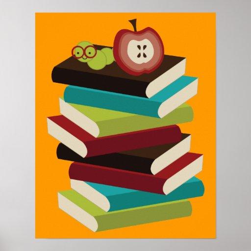 Bücherwurm Poster