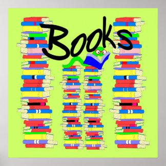Bücherwurm Plakatdruck