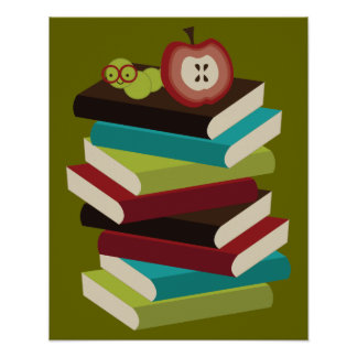 Bücherwurm Plakate