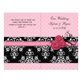 buchfalte Hochzeitsprogramm der rosa Tupfen Blumen