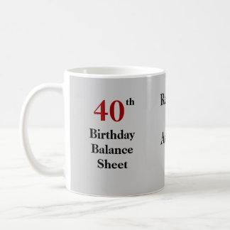 Buchhalter-40. Geburtstags-grausamer Witz Kaffeetasse