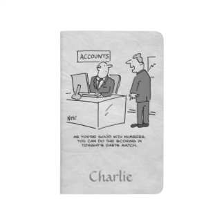 Buchhalter eingeladen, ein Pfeil-Match zu zählen Taschennotizbuch
