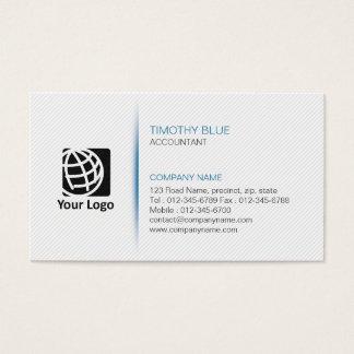 Buchhalter-Finanzservice-einfache Linien Visitenkarte