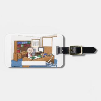 Buchhalter, Mann - personalisiertes Gepäckanhänger