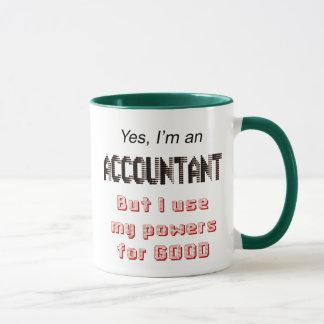 Buchhalter-Power-lustiges Büro Humor-Sprichwort Tasse