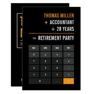Buchhalter-Ruhestands-Party 8,9 X 12,7 Cm Einladungskarte