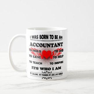 Buchhalter-Tasse, erklärende Kaffeetasse