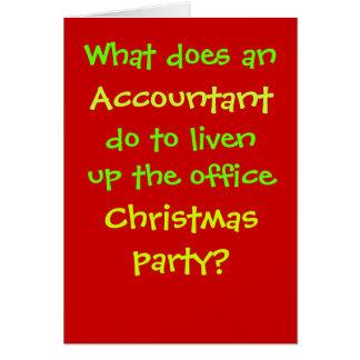 Buchhalter-Weihnachtsgrausamer u. lustiger Karte