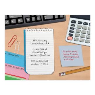Buchhaltungs-Postkarte Postkarte