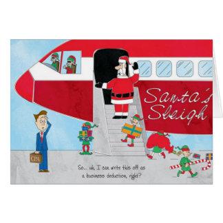 Buchhaltungs-Weihnachtskarten-Sankt Karte
