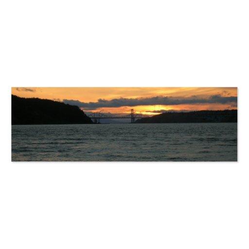 Buchkennzeichen - Brücke am Sonnenuntergang Visitenkarten