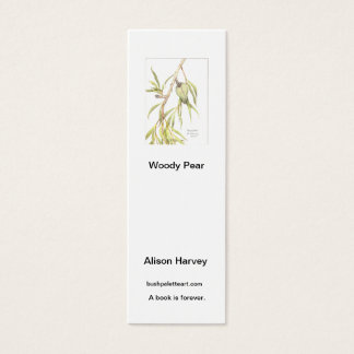Buchkennzeichen Woody-Birne Mini Visitenkarte