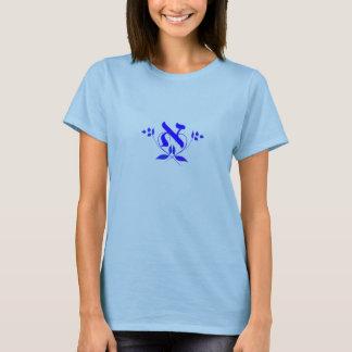 Buchstabe Alef mit Blumen-Entwurfs-T - Shirt