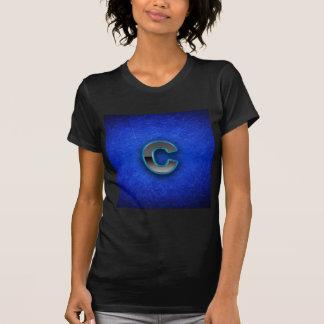 Buchstabe C - blaue Neonausgabe T-Shirt