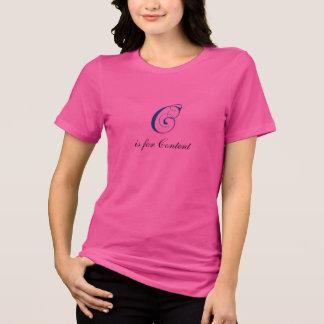 Buchstabe C blühen Inhalt T-Shirt